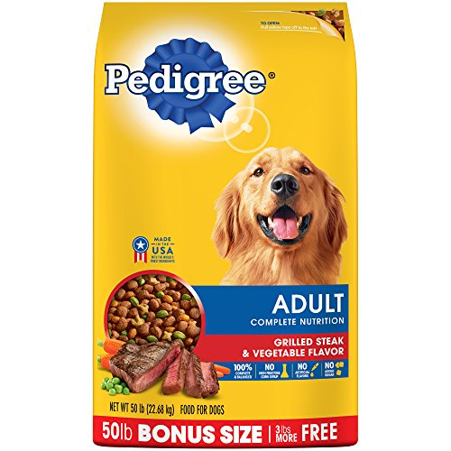 Pedigree Complete Nutrition Adult Dry Dog Food Grilled Steak & Vegetable Flavor, 50 Lb. Bag