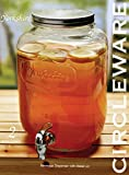 Circleware Yorkshire Sun Tea Mason Glass Drink Beverage Dispenser with Metal LID and Spigot, 2 Gallon Capacity, Limited Edition Glassware