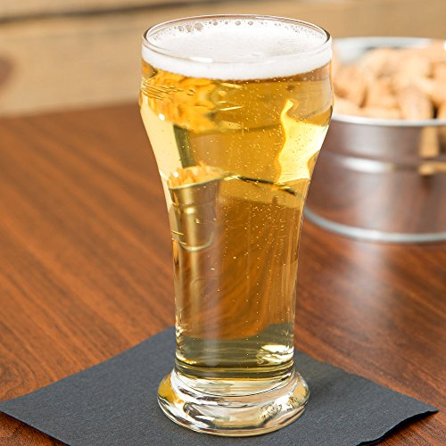 (SET of 4, Libbey # 13 Heavy Base 10 oz Pilsner Glass w/ Signature Party Picks)