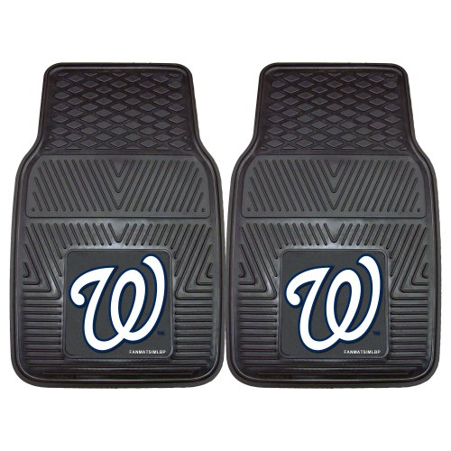 Fanmats 8852 MLB-Washington Nationals Vinyl Universal Heavy Duty Fan Floor - Piece Nationals Mlb 2 Washington