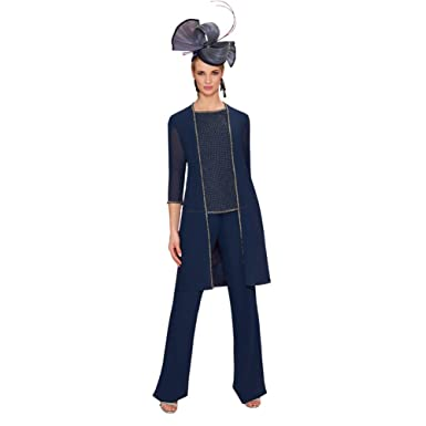 Ike Chimbandi Women S 3 Piece Mother Of The Bride Pant Suits Beads