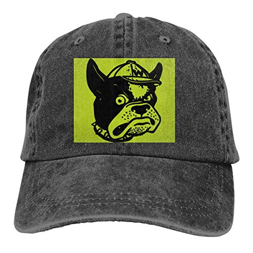 HONYE Wofford Terriers Mascot Boss Wofford College Adjustable Aithletic Gym Caps Sport Outdoor for Men and Women Black