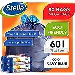Stella-Bolsas-para-Contenedores-de-Basura-Ecologicas-y-Reciclables-Hechas-de-Plastico-de-Desecho-Bolsas-de-Basura-Resistentes-Color-Azul-Oscuro-60L-con-Asa-Superior