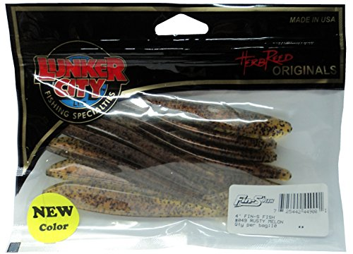 Lunker City 4-Inch Fin-S Minnow - 2 Packs - Rusty Melon #44900