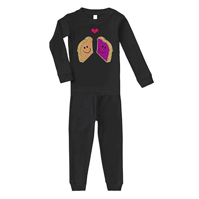 1c1dc9b26 Amazon.com: Peanut Butter and Jelly Toasts in Love #1 Cotton Long ...