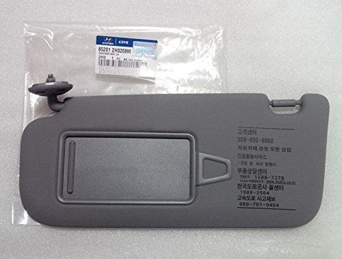Hyundai Motors OEM Genuine 85201-2H020-8M Left Driver Inside Sun Visor Gray 1-pc For 2007 ~ 2010 Hyundai Elantra : Avante HD