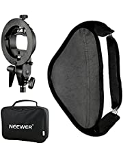 "Neewer Photo Studio Multifunctional 24x24"" Softbox with S-type Speedlite Flash Bracket Mount and Carrying Case for Portrait or Product Photography"