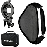 Neewer Photo Studio Multifunctional 32x32/80x80cm Softbox with S-type Speedlite Flash Bracket Mount and Carrying Case for Portrait or Product Photography