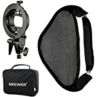 Neewer Photo Studio Multifunctional 16x16 inches/40x40 centimeters Softbox with S-type Speedlite Flash Bracket Mount and Carrying Case for Portrait or Product Photography