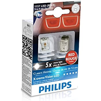 Philips 1157 P21/5W Red X-tremeVision LED Exterior light (Pack of 2)