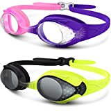 OutdoorMaster Kids Swimming Goggles – Fun Fish Style Children (Age 4-12) Leakproof Design, Shatterproof Anti-Fog Lens & Quick Adjustment Clasp – 100% UV Protection