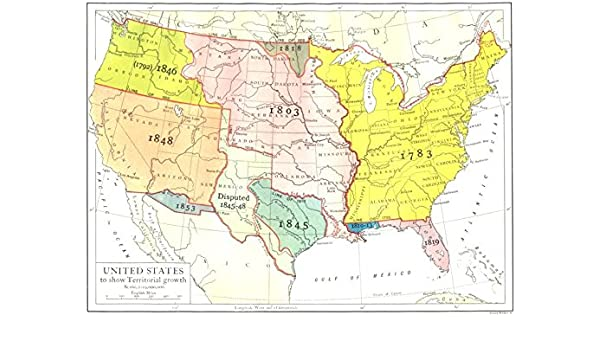 Amazon Com Usa United States To Show Territorial Growth 1910