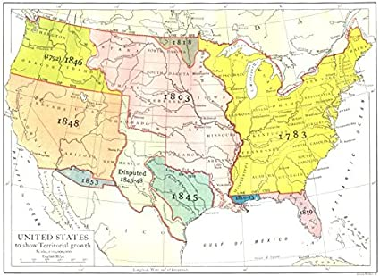 Map Of The United States Picture.Amazon Com Usa United States To Show Territorial Growth 1910