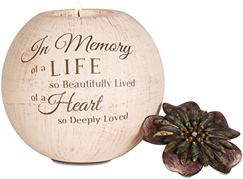 Pavilion Gift Company 19009 Light Your Way Terra Cotta Candle Holder, in Memory, 5-Inch