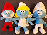 "The Smurf Movie 8"" toy Plush 3 pcs set -- Smurfette, Smurf & Papa smurf"