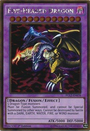 YU-GI-OH! - Five-Headed Dragon (PGL2-EN078) - Premium Gold: Return of The Bling - 1st Edition - Gold Rare