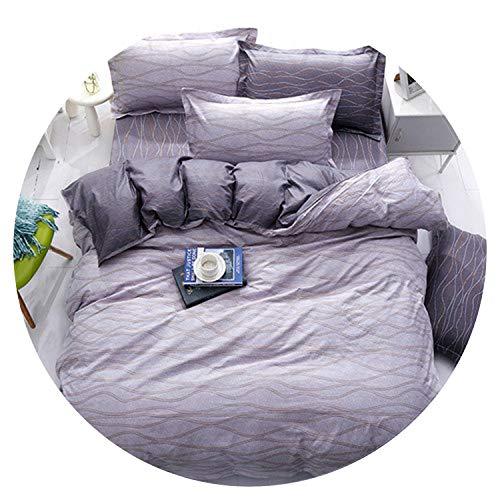 Kmart Cotton Comforter - Black White Grey Classic Bedding Set Striped Duvet Cover White Bed Linen Set Geometric Flat Sheet Set Queen Bed Set New,Mai Dong,Queen