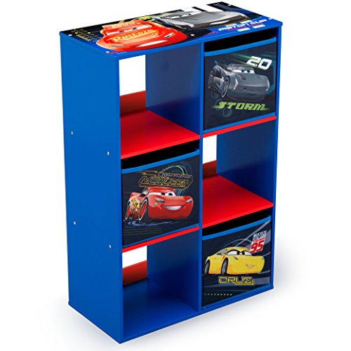 Delta Children 6 Cubby Storage Unit, Disney/Pixar (Cars Bedroom)