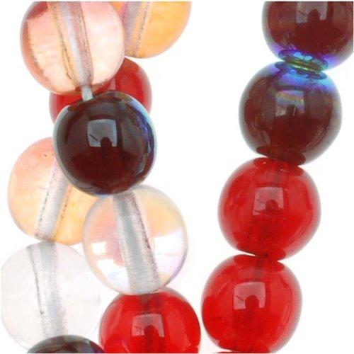 Beadaholique Czech Glass Druk 50-Piece Round Beads, 6mm, Strawberry Fields Mix (Czech Glass 6mm Druk Beads)