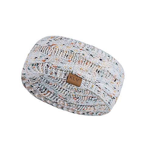 Jiusike Women Knit Elastic Sport Hair Band Soft Stretch Dotted Yarn Turban Hat