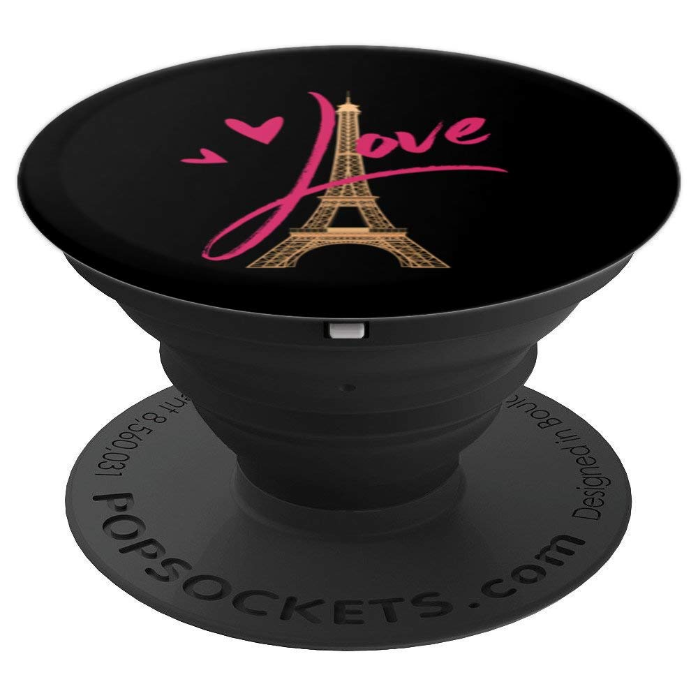 Paris France Love Eiffel Tower Pretty Pink Romance - PopSockets Grip and Stand for Phones and Tablets