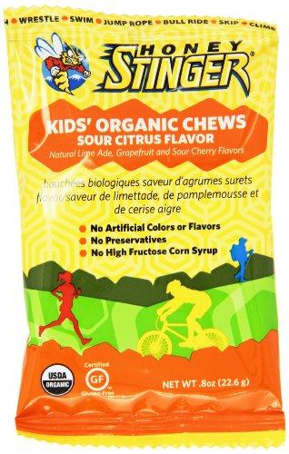 Honey Stinger Kid's Organic Chews, Sour Citrus, 0.8 Ounce...