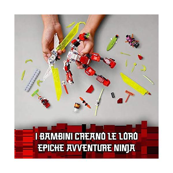 LEGO Ninjago Mech-Jet di Kai 2 In1 Set di Costruzioni Ricco di Dettagli con Digi Lame In 1 Jet, Spara con i Tuoi Shooter… 4 spesavip
