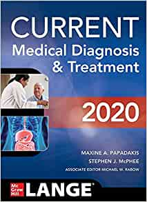 CURRENT Medical Diagnosis Treatment 2020 product image