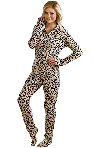 PajamaGram Womens Hoodie Footie Fleece Pajamas product image