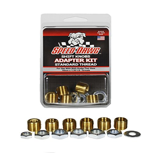 Speed Dawg Standard Thread Shift Knob Adapter Kit with 6 Sizes