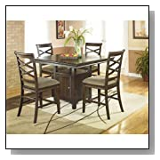 Contemporary Dark Brown Dining Room Counter Table