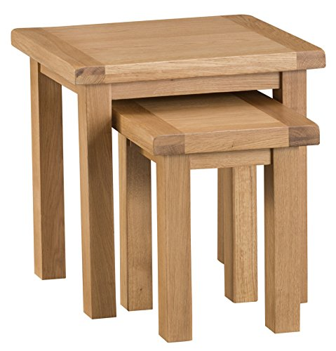 Montreal Oak Nest of 2 Tables