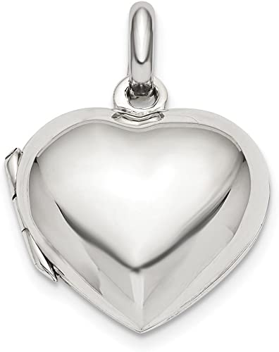 FB Jewels Solid 925 Sterling Silver Heart Pendant
