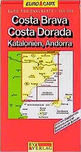 Costa Brava Map Of Spain.Spain Map Costa Brava Costa Dorado Catalonia Andorra Sheet 4