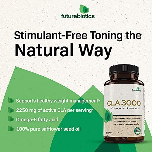 Futurebiotics CLA 3000 Extra High Potency – Naturally Supports Healthy Weight Management, Increase Lean Muscle Mass - Non-Stimulating Conjugated Linoleic Acid, Non GMO, 120 Softgels 4