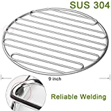 SELEWARE SUS304 Stainless Steel High Heat Charcoal Fire Grate for Large Big Green Egg Grill, Vision Grills, 9″ Diameter For Sale