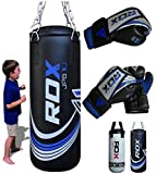 RDX Kids Punch Bag Filled Set Junior Kick Boxing Heavy MMA Training Youth Gloves Punching Mitts...