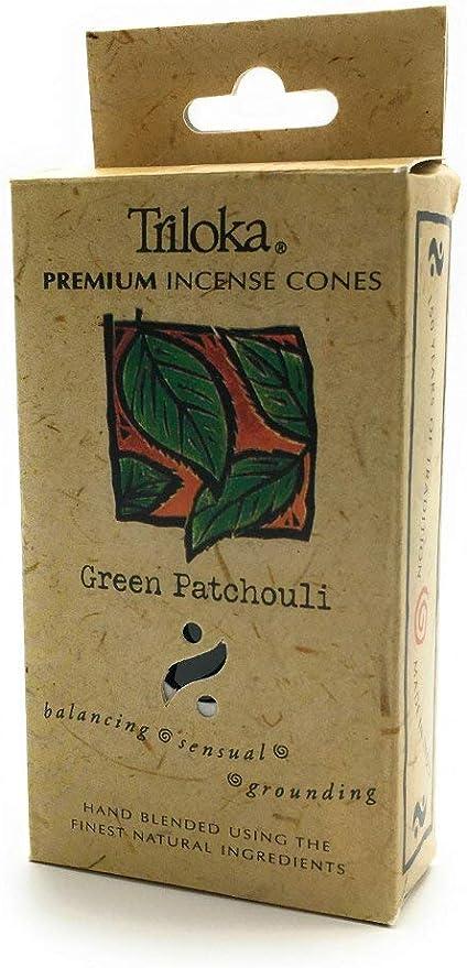 Triloka Cone Incense Green Patchouli