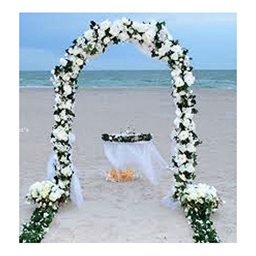 7.5 FT WHITE METAL ARCH for Wedding Party Bridal Prom Garden Floral -