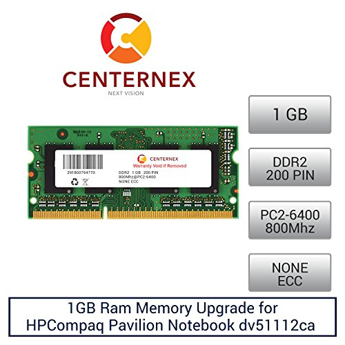 1GB RAM Memory for HPCompaq Pavilion Notebook dv51112ca (DDR26400) Laptop Memory Upgrade by US Seller