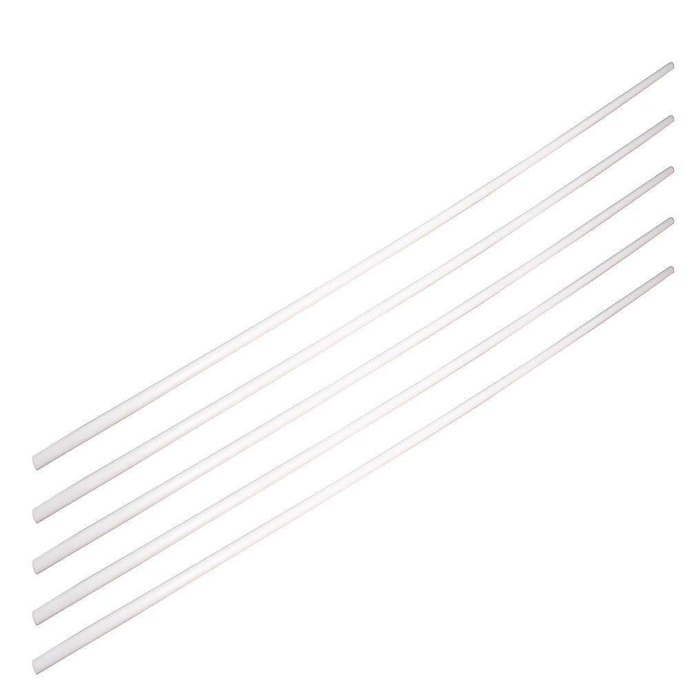 Acrylonitrile Butadiene Styrene Othmro ABS Round Rod 5PCS 3mmx50cm,Round Rod Model Building Tube Section White ABS