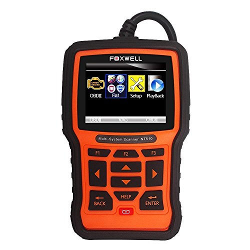 NEXAS FOXWELL Automotive Scanner All Brand 4 System OBDII OBD2 Code Readers Check Engine ABS Airbag Transmission + EPB Oil Reset Car Diagnostic Tool (Fiat)