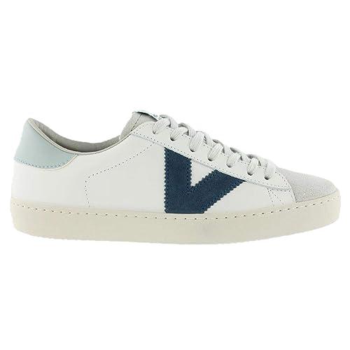 Victoria Shoes Berlin Zapatillas de Cuero Blanco, Zapatillas de Mujer: Amazon.es: Zapatos y complementos