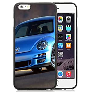 Beautiful Custom Designed Cover Case For iPhone 6 Plus 5.5 Inch With Blue Volkswagen Beetle Phone Case Cover