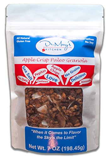 Dr. Mary's Kitchen Apple Crisp Paleo Granola, No Grains or Gluten 7oz.