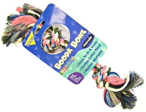 Petmate Booda Two Knot Rope Bone, Multicolored, Small, My Pet Supplies