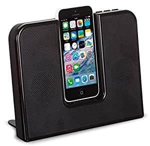 KitSound Impulse Speaker Dock with Lightning Connector for iPhone 5/5S/5C and iPod Touch 5th Generation - Black