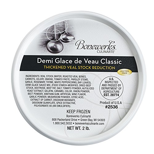 Bonewerks Culinarte Demi Glace de Veau Classic (Thickened Veal Stock Reduction) 2 lb-Pack of 6 ()