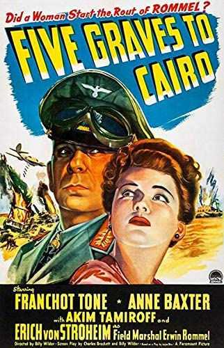 Amazon.com: Five Graves of Cairo - 1943 - Movie Poster: Posters & Prints