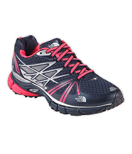 New The North Face Women's Ultra Equity Running Shoe Blue/Rocket Red 8